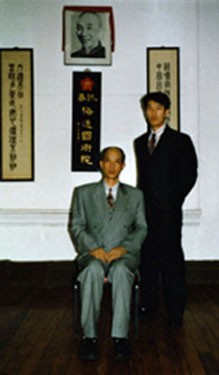 Moy Yat and his student Benny Meng